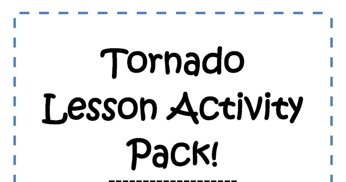 Little Miss Middle School: Middle School Tornado Activity