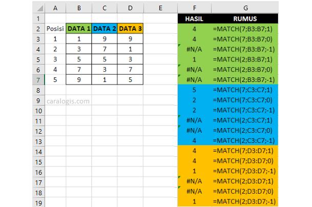 Rumus Match Excel