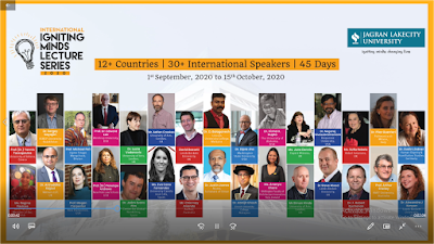 Jagran Lakecity University   International Igniting Minds Lecture Series