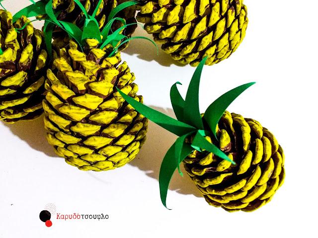 Diy-ανανάδες-από-κουκουνάρια