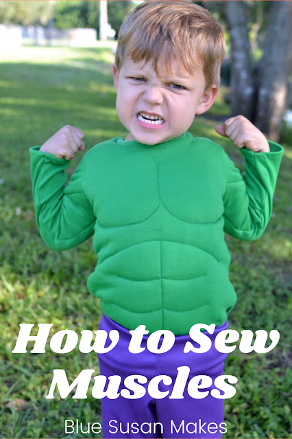 How to Sew Muscles in a costume