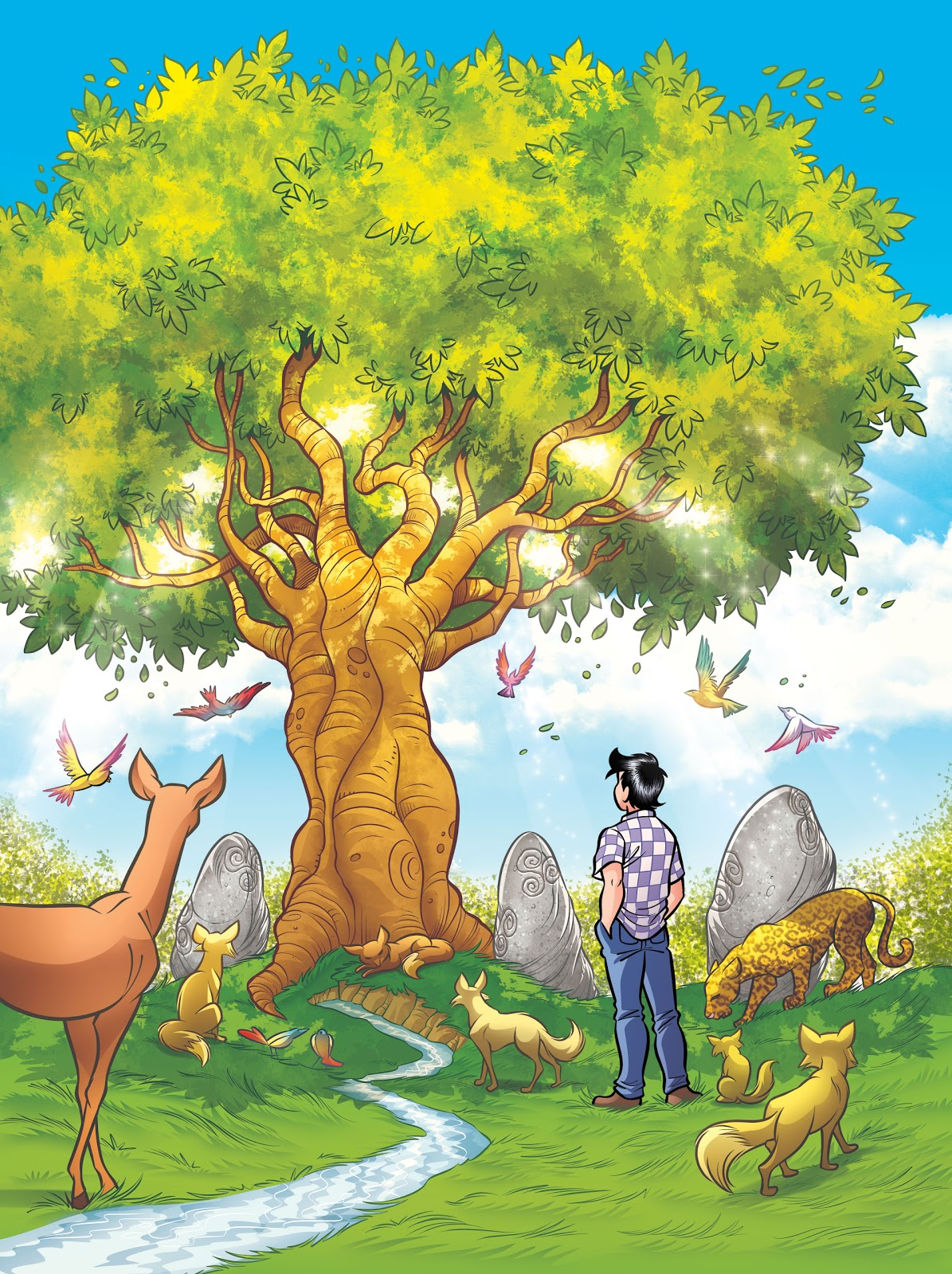 chico bento moço edição 23 a Árvore da vida parada temporal