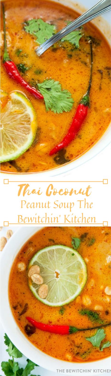 THAI COCONUT PEANUT SOUP #healthydinner #recipes #easy #soup #coconut