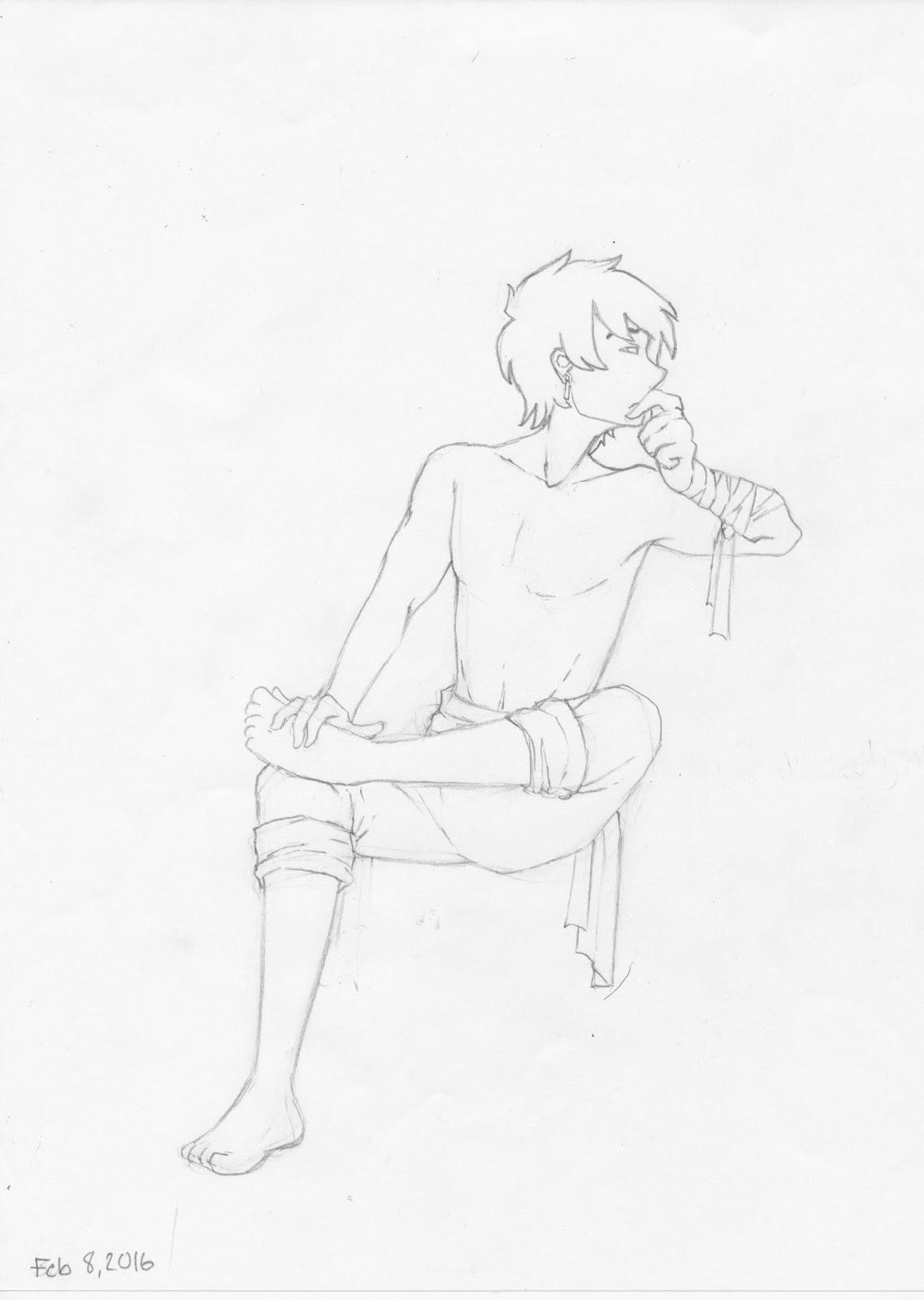 Manga Interest Manga Boy Sitting Pose