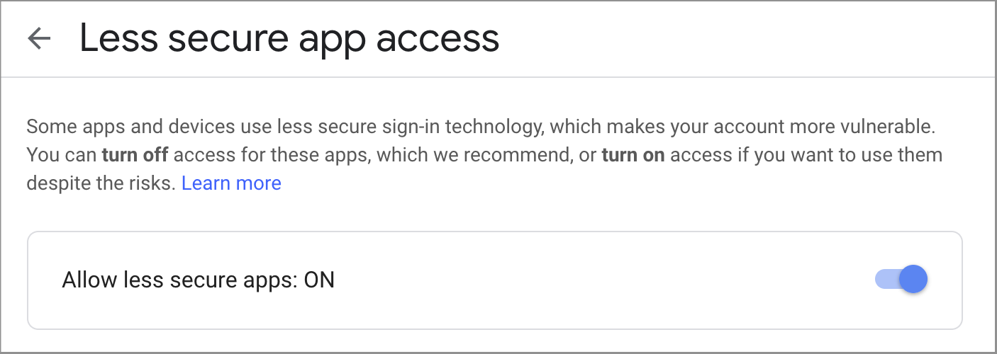 G Suite Updates Blog: Limiting access to less secure apps to