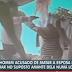 Vídeo: Homem é baleado pela PM após matar esposa e suposto amante dela, assista