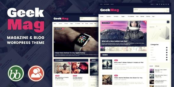 GeekMag Wordpress Teması