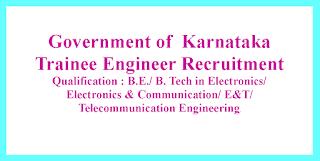 Trainee Engineer Recruitment - Government of  Karnataka