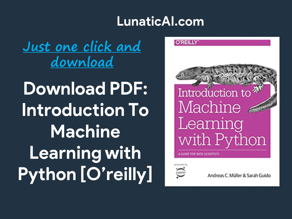 Introduction to Machine Learning with Python PDF O'Reilly
