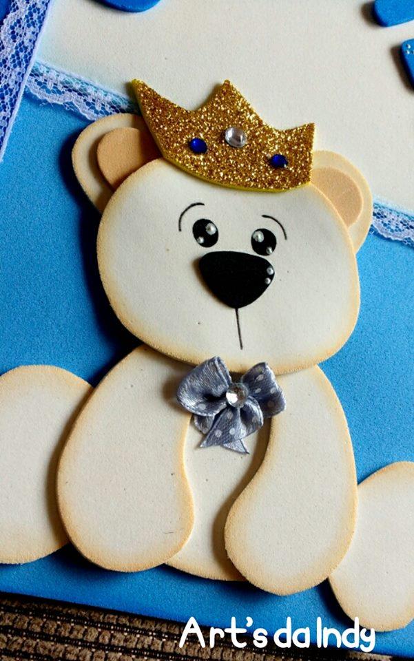 Arts Da Indy Urso Príncipe Capa Caderneta De Vacinação