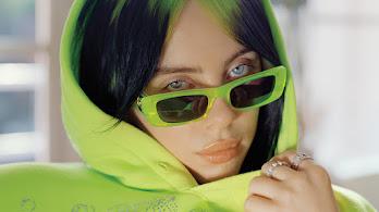 Billie Eilish, Hoodie, Sunglasses, Green Hair, 4K, #6.2466