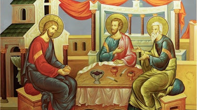 The road to Emmaus: Jesus with His two disciples