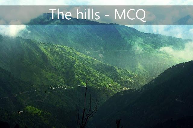 """The Hills"" by Manoj Das - MCQ"