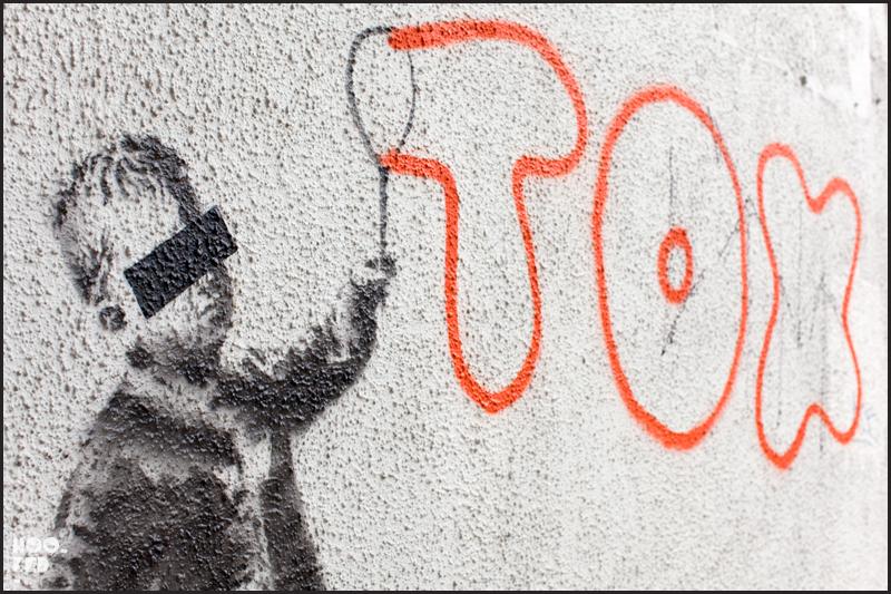 Banksy in London, Camden Tox Mural close-up