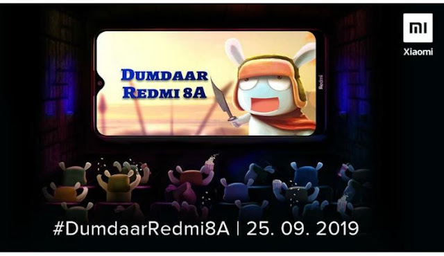 Redmi 8A to be launched in India on 25 September