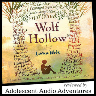 Adolescent Audio Adventures reviews Wolf Hollow by Lauren Wolk