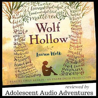 Adolescent Audio Adventures reviews Wolf Hollow by Lauren Wolk