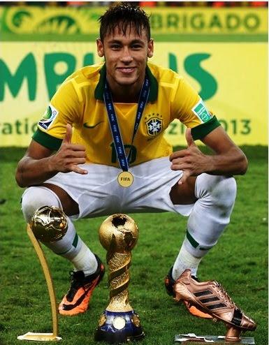 beab4212855f8 Neymar ganha Bola de Ouro e Júlio César a Luca de ouro na Copa das  Confederações
