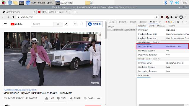 Raspberry Pi MojoVideoDecoder Chromium hardware accelerated video decode