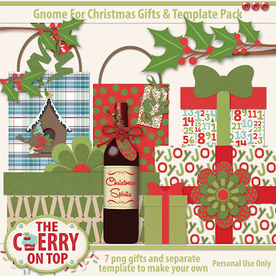 Gnome For Christmas Gift pack with templates