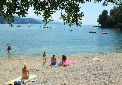 Prelo Free Beach on the Gulf of Tigullio, San Michele di Pagana, Rappallo.