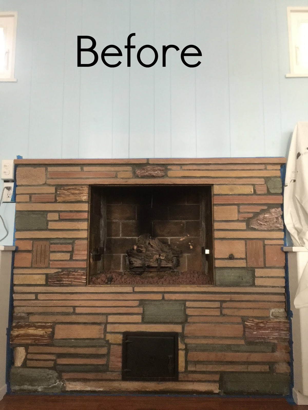 a home update our howtographic redo now best fireplace color house what is