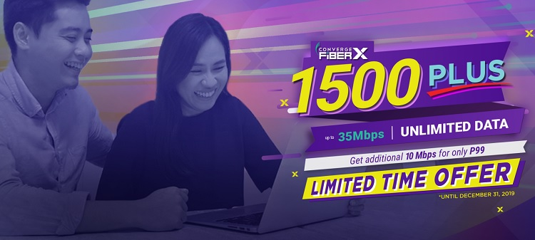 Converge Offers Additional 10Mbps for only Php99