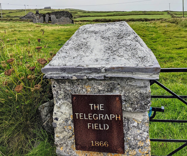 The telegraph field on Valentia Island Ireland