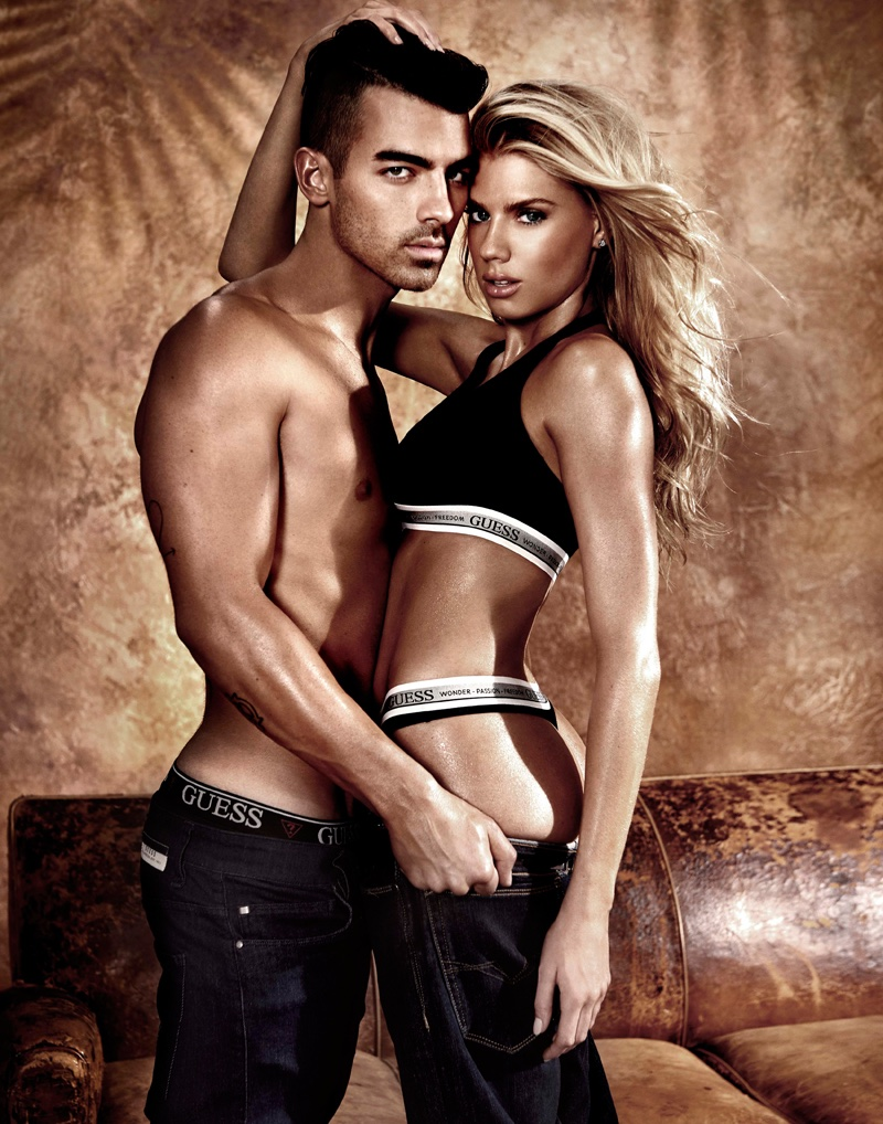 Charlotte McKinney and Joe Jonas strip down for the Guess Underwear Campaign 2017
