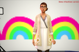 sims 4 fashion career