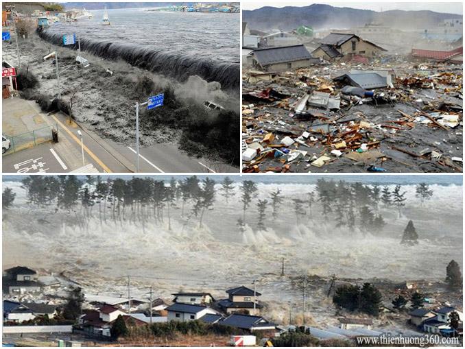 Động đất - Sóng thần - Lũ lụt khủng khiếp ở Nhật Bản