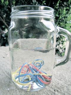 Water a la Rubber Band