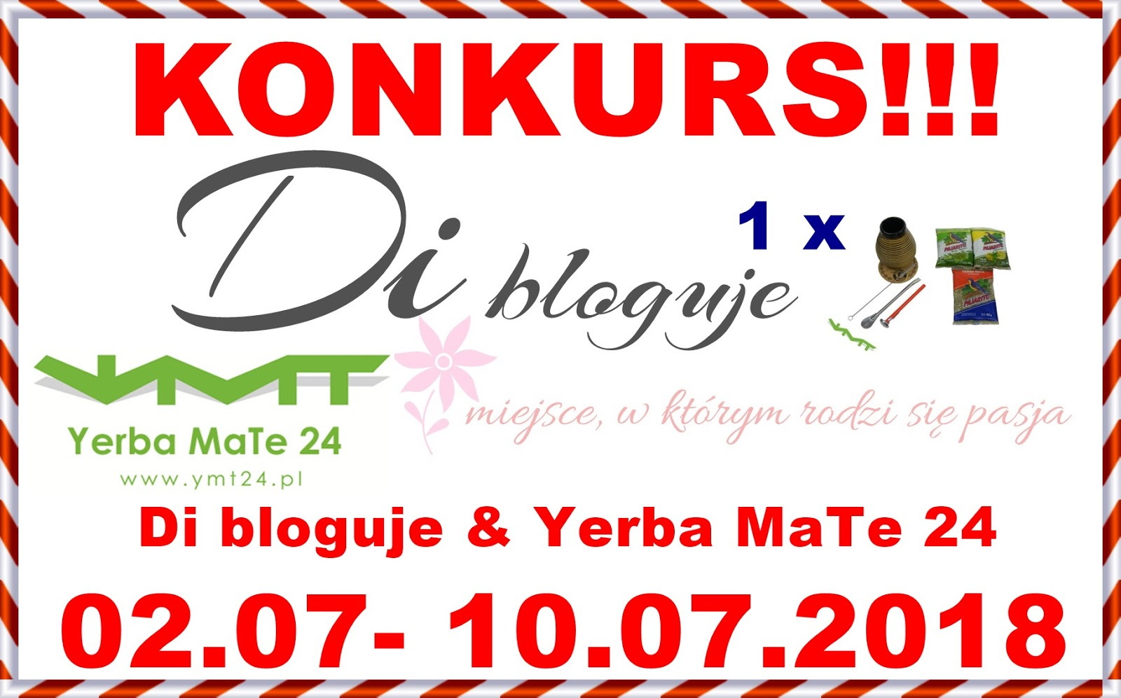 Konkurs na facebooku - Di bloguje & Yerba MaTe 24 - do wygrania zestaw startowy do yerba mate