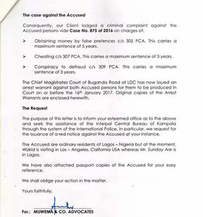 Wizkid declared wanted in Uganda