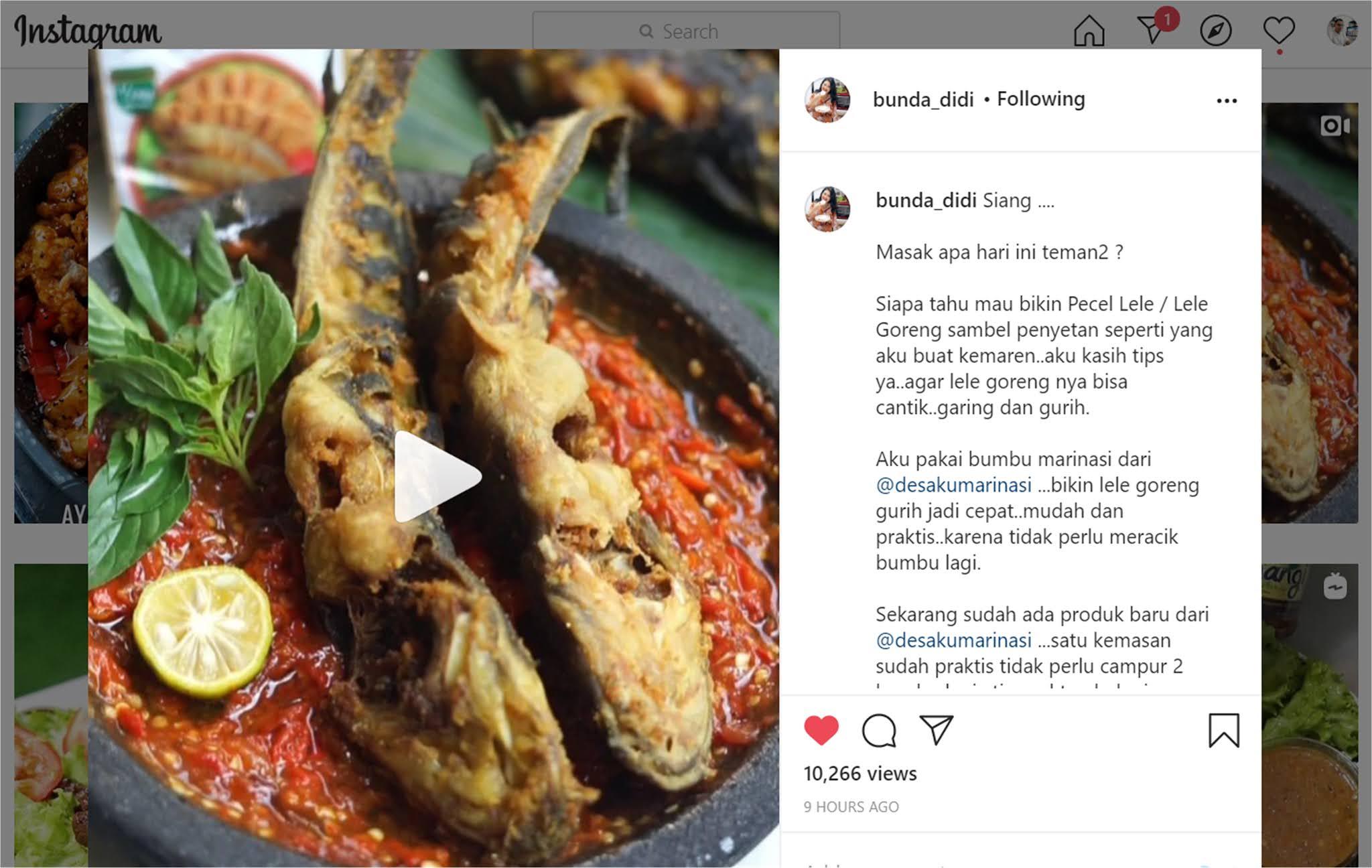 Diah Didi S Kitchen Pecel Lele Lele Goreng Marinasi