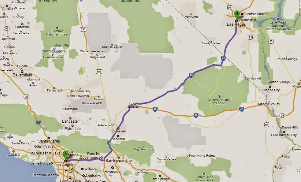 Como ir de Los Angeles a Las Vegas de carro