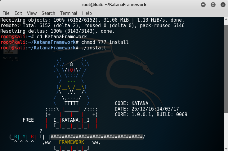 Installazione Framework Katana