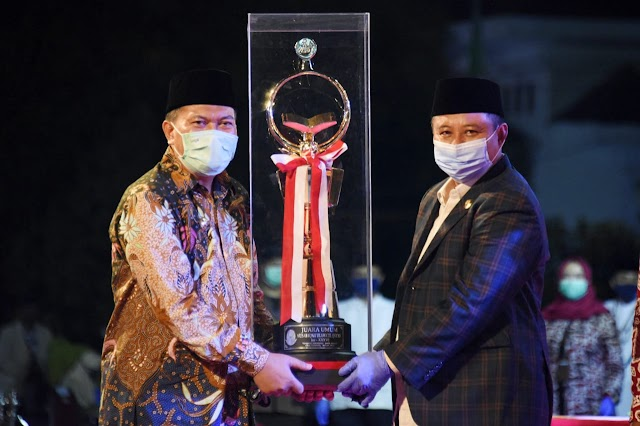 Kafilah Kota Bandung Kembali Raih Juara Umum Pada MTQ ke XXXVI Jabar 2020