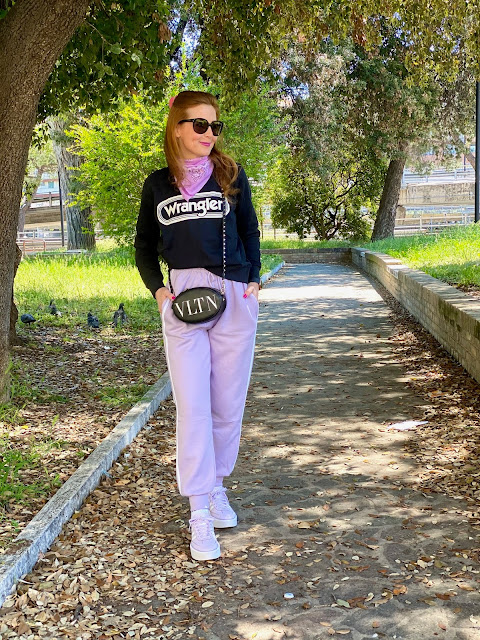 Femmeluxe lilac high waisted joggers