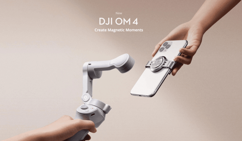 DJI announces OM 4 gimbal with magnetic smartphone mounts