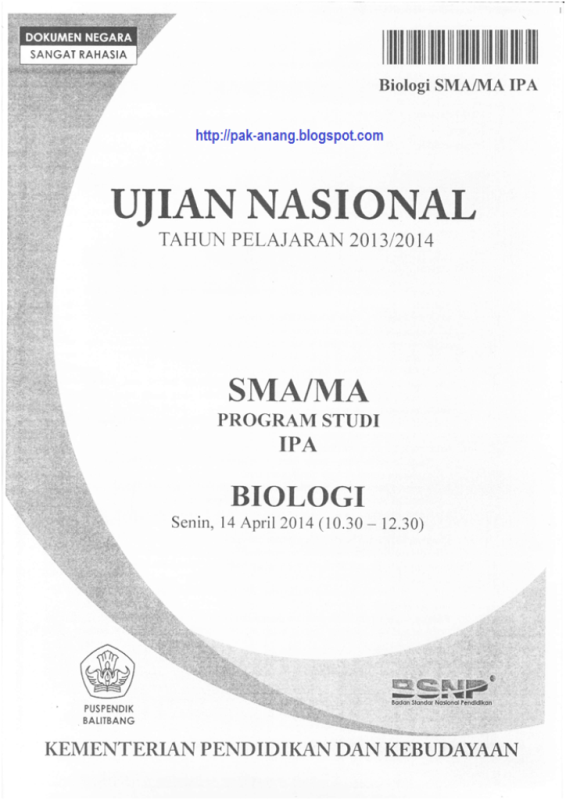 Contoh Soal UN Bahasa Indonesia SMP Pk1 Dan Pembahasannya