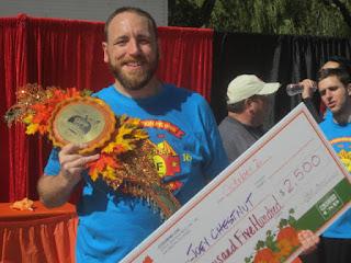 Joey 'Jaws' Chestnut Down 19 lbs., Wins World Pumkin Pie Eating Championship in Elk Grove