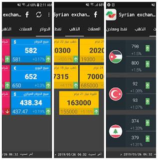 تطبيق Syrian Exchange Prices