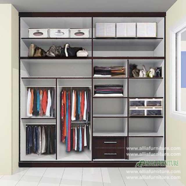 lemari baju minimalis unit 4 pintu louis