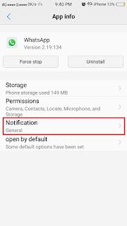 Cara Membaca Pesan Whatsapp tanpa diketahui pengirim - notif 2