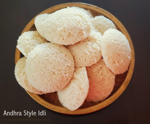 images of Andhra Style Idli With Rice Rava / Idli Recipe with Idli Rava / Andhra Idli / Soft Idli Using Idli Rava