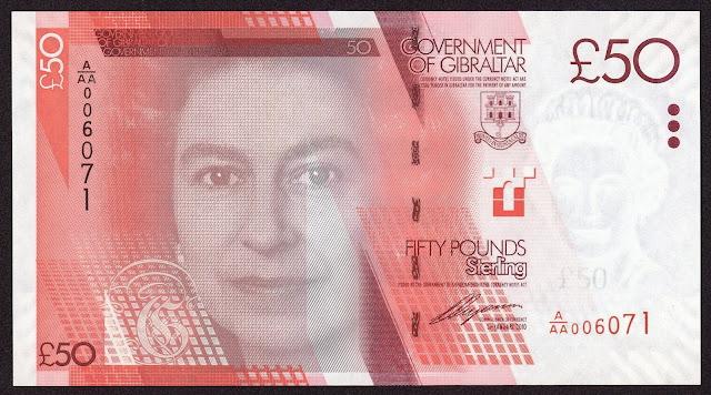 Gibraltar Banknotes 50 Pounds banknote 2010 Queen Elizabeth II