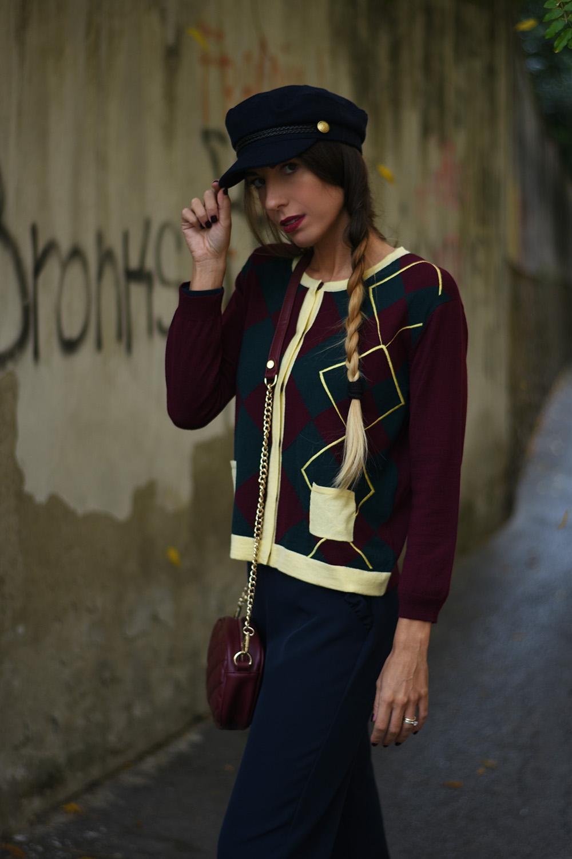 maglione a rombi trend