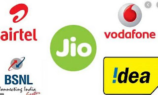 Airtel, Vodafone, Jio, Idea, BSNL Prepaid Tariff plan of  from December 1