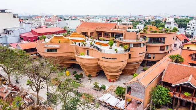 Hình chụp toàn cảnh công trình bảo tàng gốm Bát Tràng